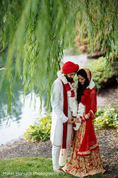 Indian wedding portraits in Somerset, NJ Sikh Wedding by Matei Horvath Photography
