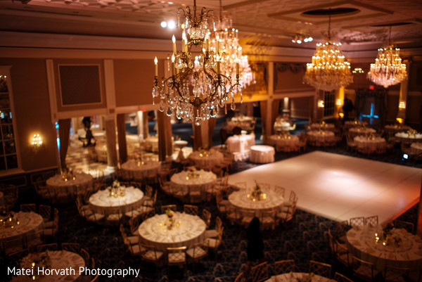 Reception decor in Somerset, NJ Sikh Wedding by Matei Horvath Photography
