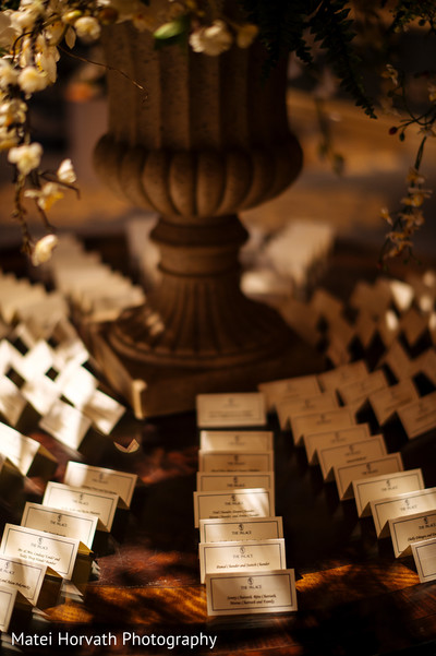 Escort cards in Somerset, NJ Sikh Wedding by Matei Horvath Photography