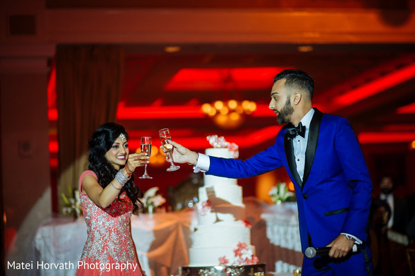 Cake cutting in Somerset, NJ Sikh Wedding by Matei Horvath Photography