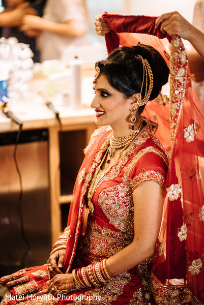 Indian bride getting ready in San Jose, CA Indian Wedding by Matei Horvath Photography