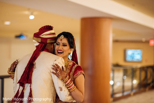 First look portraits in San Jose, CA Indian Wedding by Matei Horvath Photography