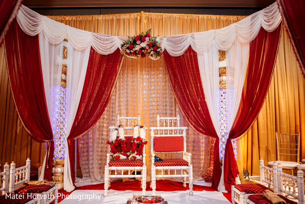 Mandap for Indian wedding in San Jose, CA Indian Wedding by Matei Horvath Photography