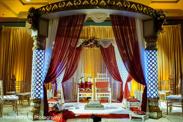 Indian wedding mandap in San Jose, CA Indian Wedding by Matei Horvath Photography