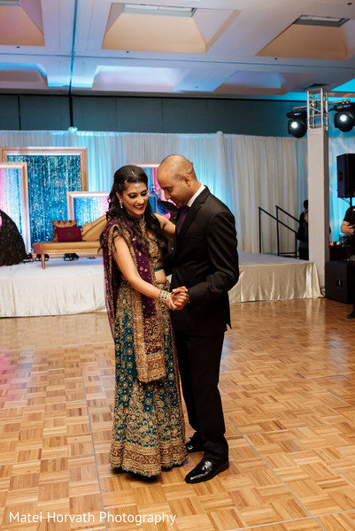 Indian wedding reception in San Jose, CA Indian Wedding by Matei Horvath Photography
