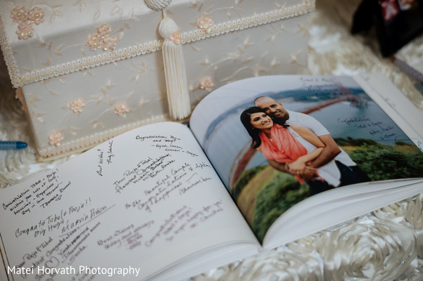 Wedding guest book album in San Jose, CA Indian Wedding by Matei Horvath Photography