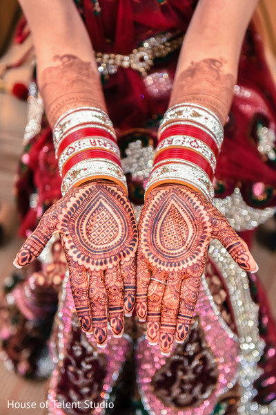 Indian Bride Mehndi in Mahwah, NJ Sikh Wedding by House of Talent Studio