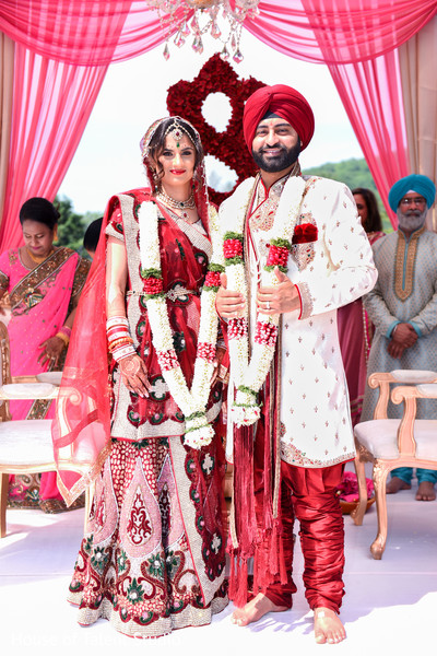 Sikh Bride and Groom in Mahwah, NJ Sikh Wedding by House of Talent Studio