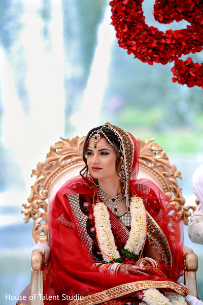 Indian Bridal Portrait in Mahwah, NJ Sikh Wedding by House of Talent Studio