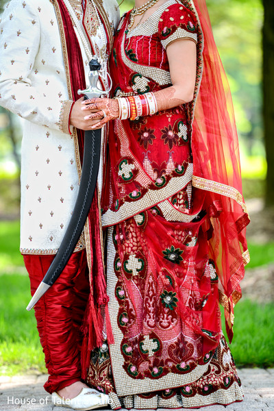 Bride and Groom with Kirpan in Mahwah, NJ Sikh Wedding by House of Talent Studio