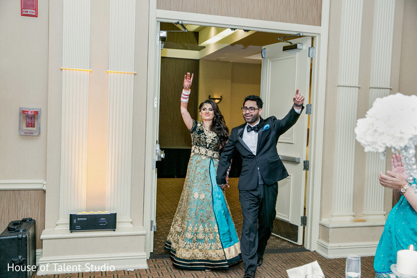 Indian Bride and Groom Entrance in Mahwah, NJ Sikh Wedding by House of Talent Studio