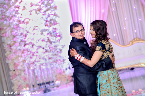indian wedding reception,father daughter dance,indian reception venue