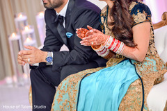 wedding reception,reception,south asian wedding reception,indian wedding reception,blue lengha