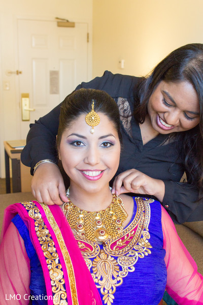 Indian wedding jewelry in Falls Church, VA Fusion Wedding by LMO Creations