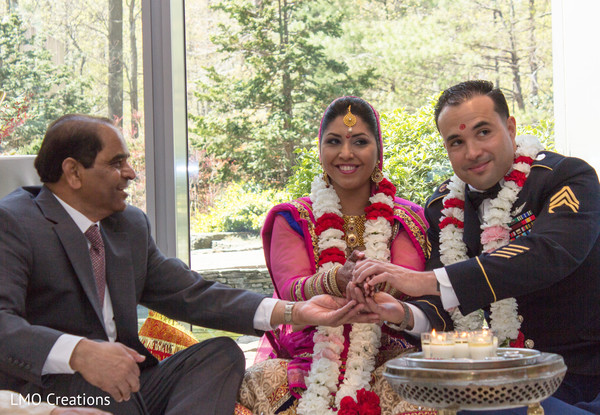 Indian wedding ceremony in Falls Church, VA Fusion Wedding by LMO Creations
