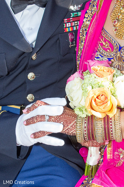 Indian wedding portraits in Falls Church, VA Fusion Wedding by LMO Creations