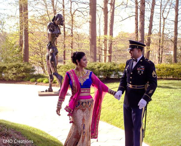 Indian wedding portraits in Falls Church, VA Fusion Wedding by LMO Creations