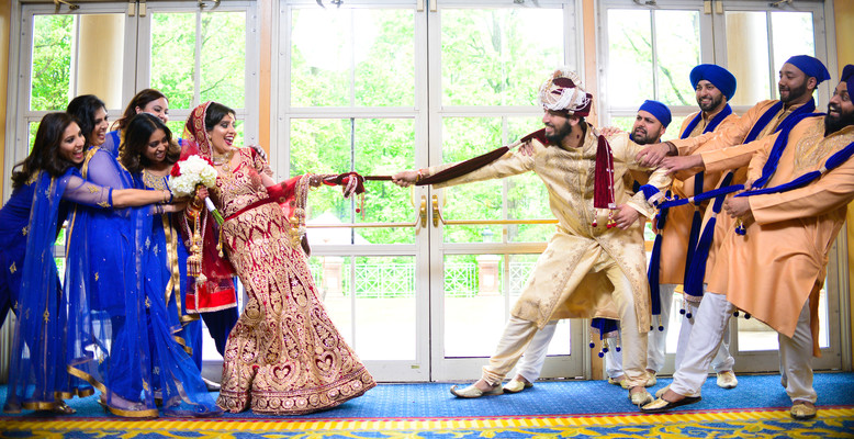 Indian Wedding Party in Chantilly, VA Hindu & Sikh Wedding by AISM Photography
