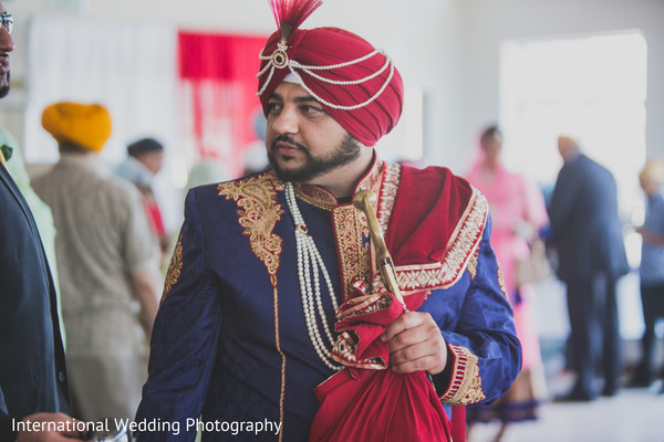Sikh groom in Livingston, CA Sikh Wedding by International Wedding Photography