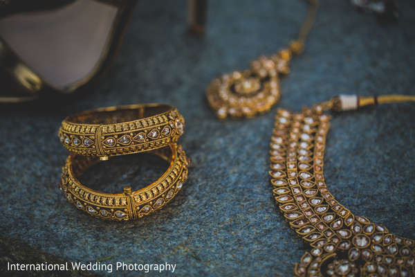 South asian bridal jewelry in Livingston, CA Sikh Wedding by International Wedding Photography