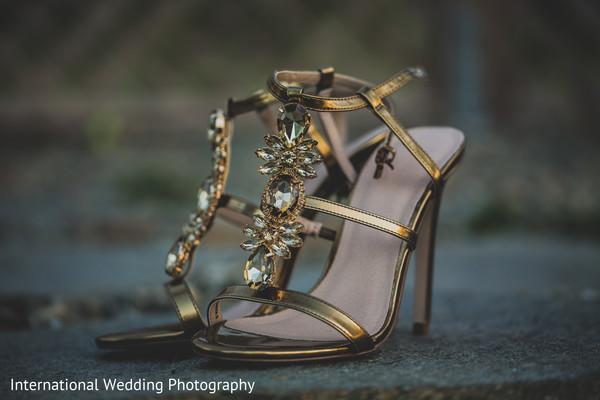 Bridal footwear in Livingston, CA Sikh Wedding by International Wedding Photography