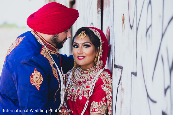 Indian wedding portraits in Livingston, CA Sikh Wedding by International Wedding Photography