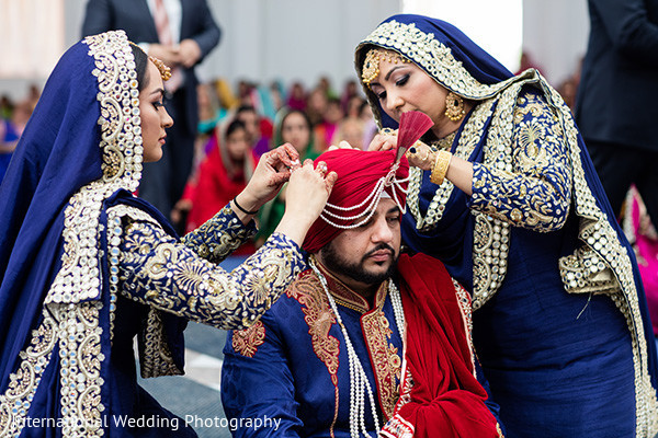 Indian groom getting ready in Livingston, CA Sikh Wedding by International Wedding Photography