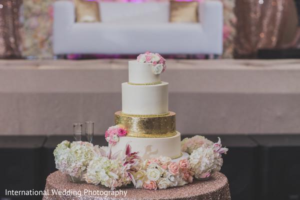 Wedding cake in Livingston, CA Sikh Wedding by International Wedding Photography
