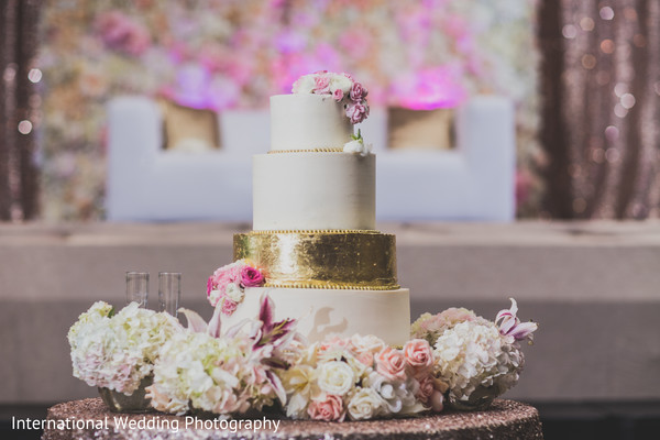 Wedding cake in Livingston, CA Sikh Wedding by International Wedding Photography