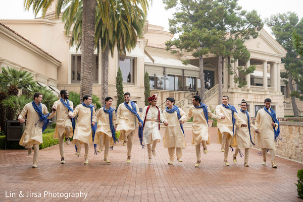 Groomsmen in Newport Coast, CA Indian Wedding by Lin & Jirsa Photography