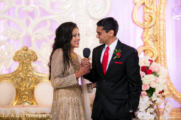 Bride and Groom Speech in Newport Coast, CA Indian Wedding by Lin & Jirsa Photography