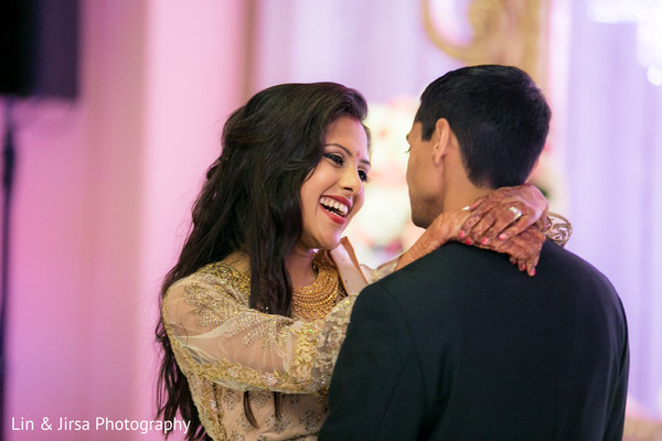 Indian Bride and Groom First Dance in Newport Coast, CA Indian Wedding by Lin & Jirsa Photography
