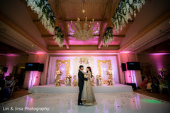 indian wedding reception,first dance,indian bride and groom first dance