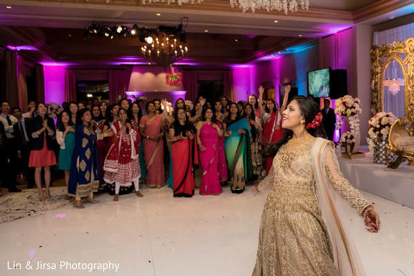 Bride at Reception Venue in Newport Coast, CA Indian Wedding by Lin & Jirsa Photography