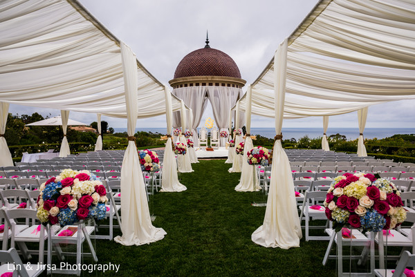 Outdoor Indian Ceremony Venue in Newport Coast, CA Indian Wedding by Lin & Jirsa Photography
