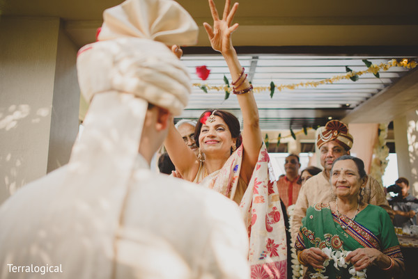 Groom's welcome in Bali, Indonesia Destination Indian Wedding by Terralogical