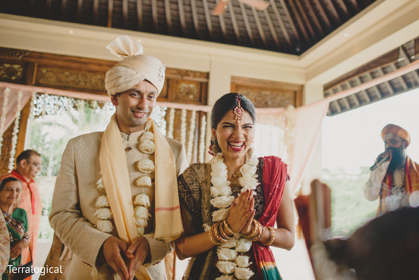 Indian wedding ceremony in Bali, Indonesia Destination Indian Wedding by Terralogical