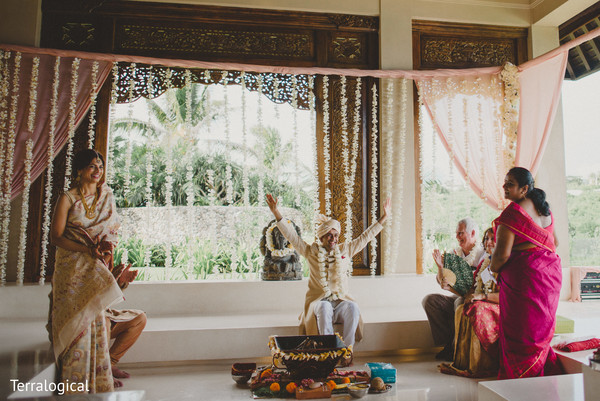 Indian wedding mandap in Bali, Indonesia Destination Indian Wedding by Terralogical