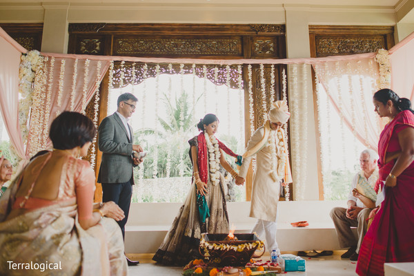 Indian wedding portraits in Bali, Indonesia Destination Indian Wedding by Terralogical
