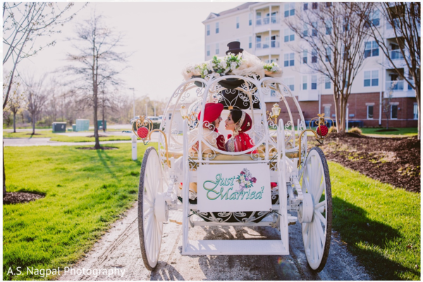 Carriage in Cambridge, MD Indian Wedding by A.S. Nagpal Photography