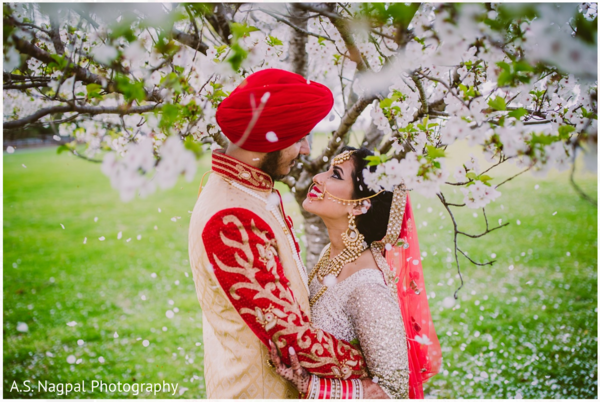 First look portraits in Cambridge, MD Indian Wedding by A.S. Nagpal Photography