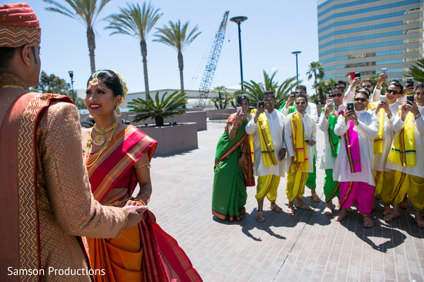 Wedding Party in Long Beach, CA Indian Wedding by Samson Productions