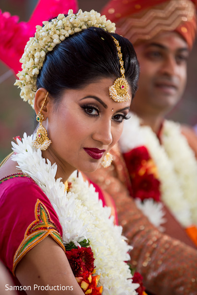 Indian Bride Portrait in Long Beach, CA Indian Wedding by Samson Productions
