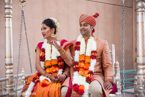 South Indian Bride and Groom in Long Beach, CA Indian Wedding by Samson Productions