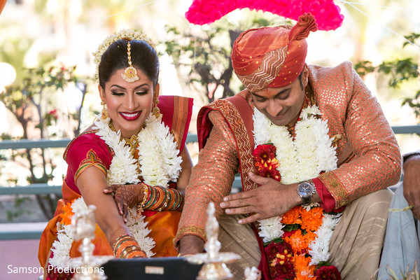 Bride and Groom South Indian Wedding in Long Beach, CA Indian Wedding by Samson Productions