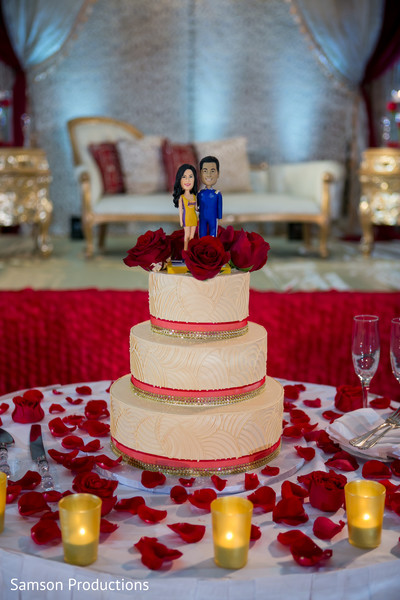 NBA Themed Wedding Cake in Long Beach, CA Indian Wedding by Samson Productions