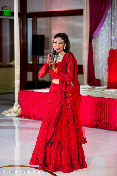 Bridal Lengha in Long Beach, CA Indian Wedding by Samson Productions
