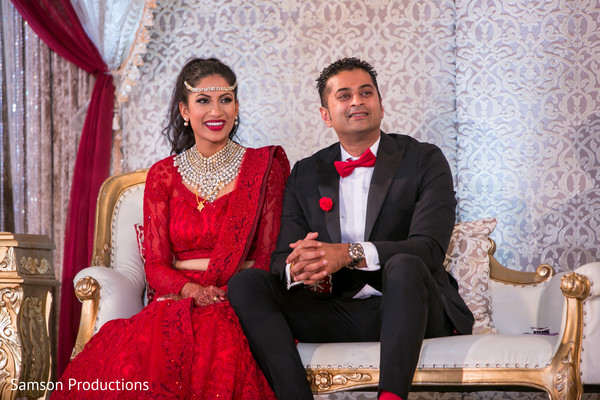 South Indian Bride and Groom at Wedding Reception in Long Beach, CA Indian Wedding by Samson Productions