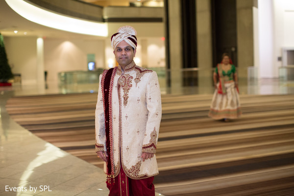 Indian Groom in his Sherwani in Atlanta, GA Fusion by Events by SPL