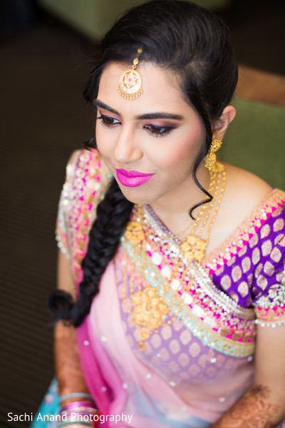 Lengha sari in Herndon, VA, Indian Wedding by Sachi Anand Photography